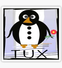 TUX:  FLOWER Sticker