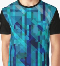 abstract composition in blues Graphic T-Shirt