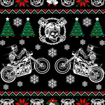 Motorcycle Christmas by NovaPaint