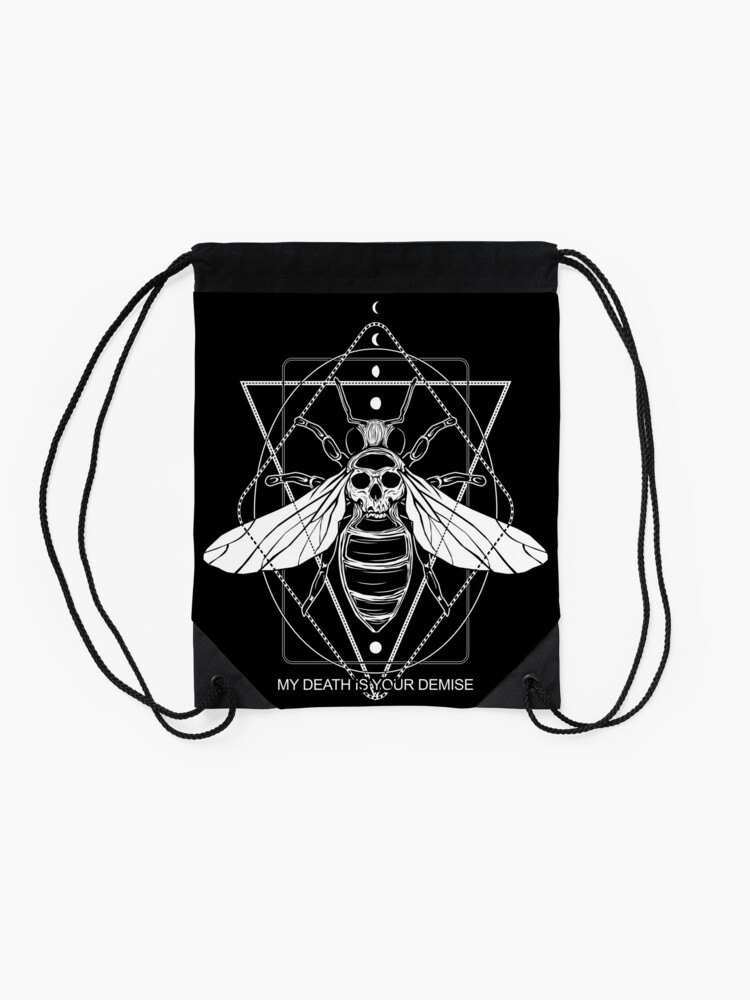 Alternate view of KILLER BEE - save the bees! Drawstring Bag