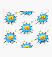 Comic book speech bubble font first name Don Wall Tapestry