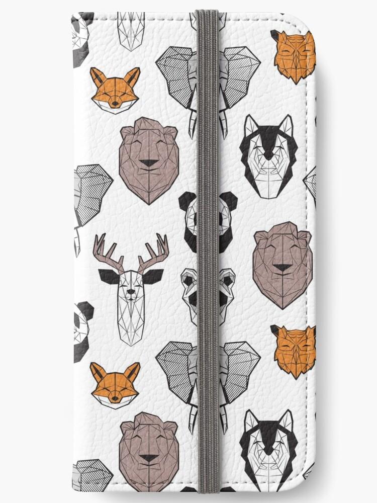 «Animales geométricos amigables // fondo blanco blanco y negro naranja gris y marrón marrón marrón animales» de SelmaCardoso