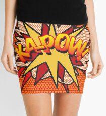 Comic Book Pop Art KA-POW Superhero Mini Skirt
