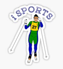 Sports, action, moving, skiing Sticker