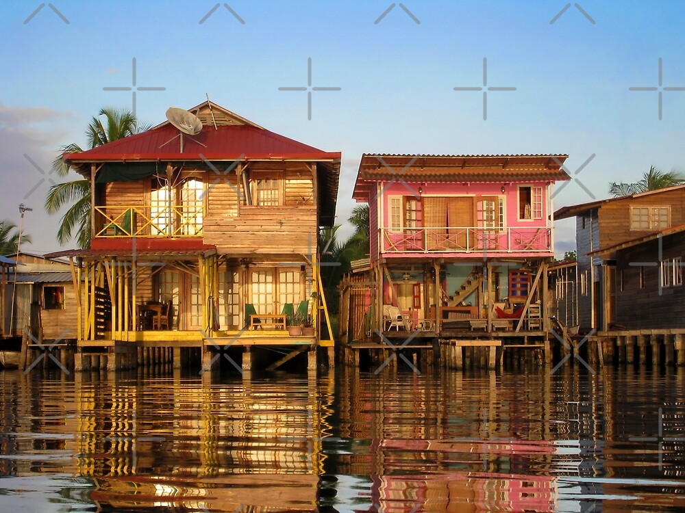 Charming Caribbean houses over the water by Dam - www.seaphotoart.com