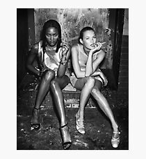 kate moss and naomi campbell poster Photographic Print