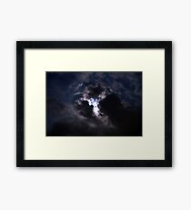 Moon Lite Clouds Framed Print