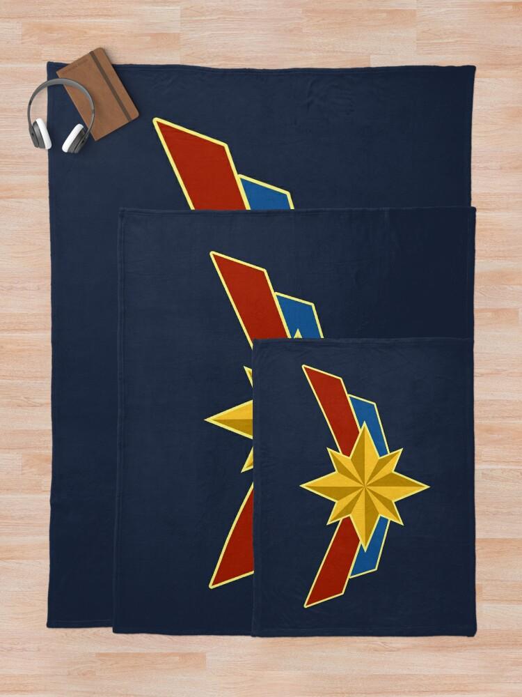 Alternate view of Super Heroine Throw Blanket