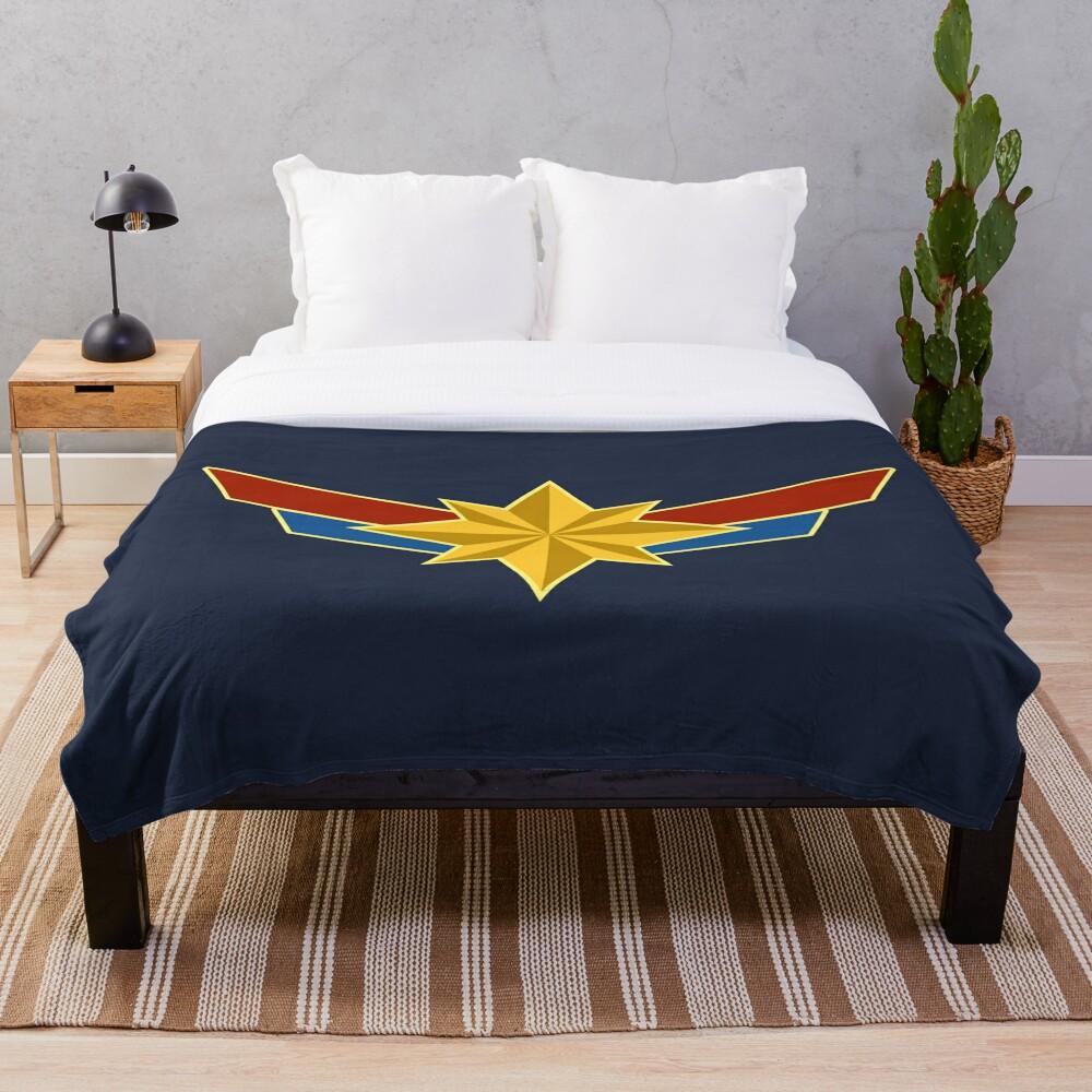 Super Heroine Throw Blanket