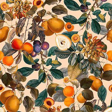 Weinlese-Frucht-Muster IX von burcukyurek