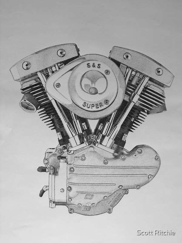 Quot S Amp S Shovelhead Engine Quot Photographic Prints By Scott