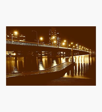 ILLUMINATION BRIDGE Photographic Print