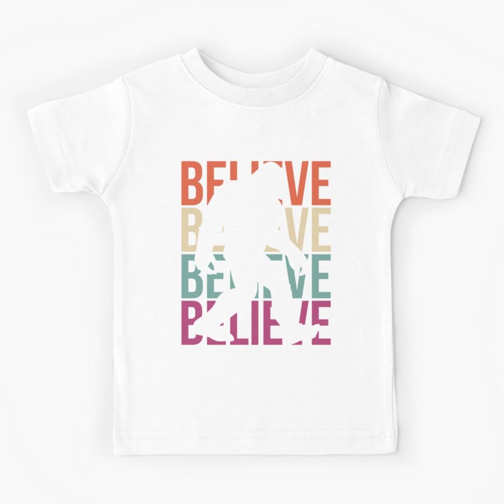 Bigfoot T-shirt I Believe Bigfoot Sasquatch Yeti Funny Shirt Kids T-Shirt