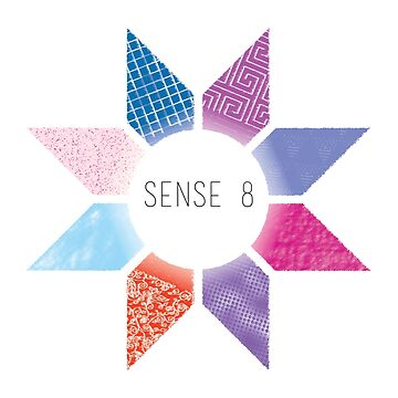 Sense8 Star Logo Blue by Dersee