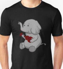 Elephant Loves Her Ukulele  Unisex T-Shirt