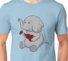 Elephant Loves Her Ukulele  Unisex T-Shirt