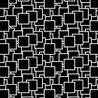 Paper Piles - Geometric Pattern (Black) by mariomartin