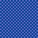 Lavender Blue Polka Dot Pattern by plantita