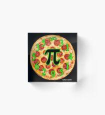 Pizza Pi Day Acrylic Block