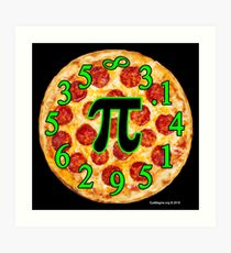 Pizza Pi Day Art Print