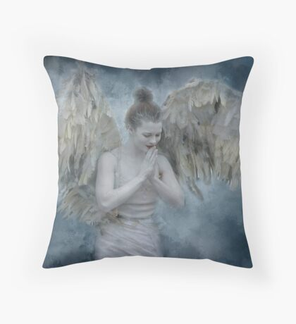 Angel of Mercy Throw Pillow