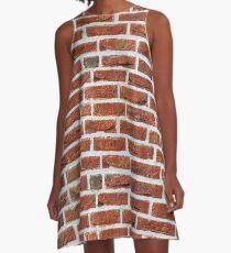 Ziegelmauer A-Linien Kleid