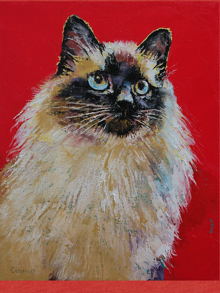 Siamese Cat Portrait by michaelcreese
