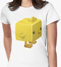 Blocky Baby Chick, Chicken Illustration T-Shirt