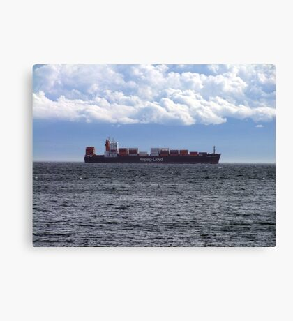 Container Ship off Cordova Bay Canvas Print
