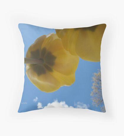 Through the Eyes of a Ladybug Throw Pillow