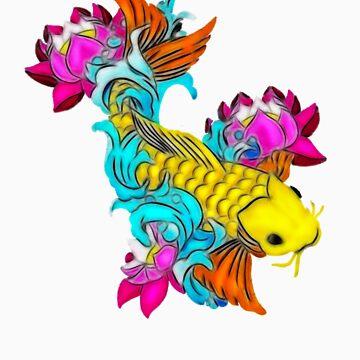 Koi Fish by Mickie