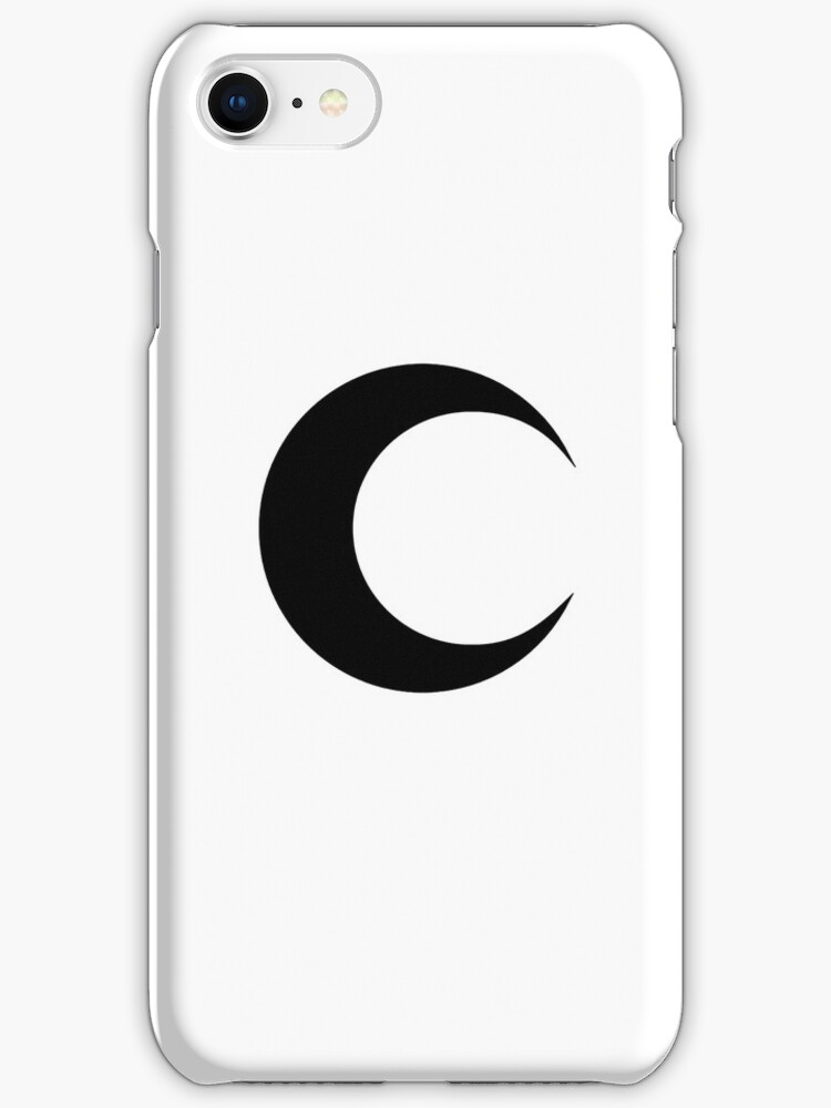 moon icon iphone quot moon classic symbol black clean quot iphone cases 12646