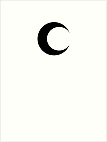 Moon Knight Classic Symbol Black Clean Art Prints By Garudoh