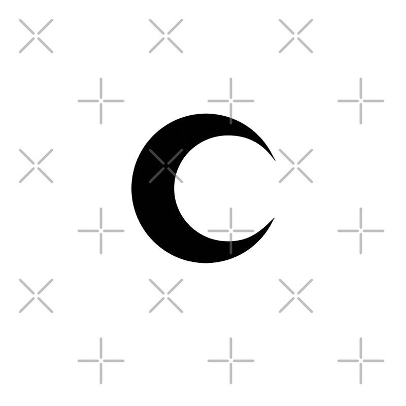 Moon Knight Classic Symbol Black Clean Drawstring Bags By
