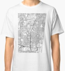 Fort Lauderdale map poster print wall art, Florida gift printable, Home and Nursery, Modern map decor for office, Map Art, Map Gifts Classic T-Shirt