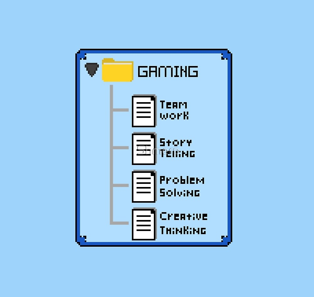 Blue Gaming Folder by Shmerp