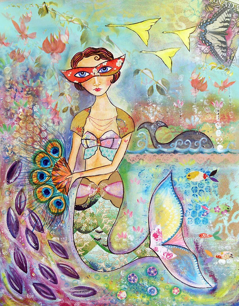 Vintage mermaid by sue mochrie