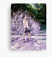 Jacaranda girl. Canvas Print