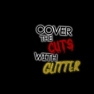 Courteeners // Cubrir los cortes con Glitter de DesignedByOli