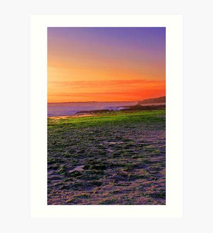 North Beach At Sunset  Art Print