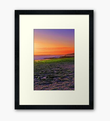 North Beach At Sunset  Framed Print