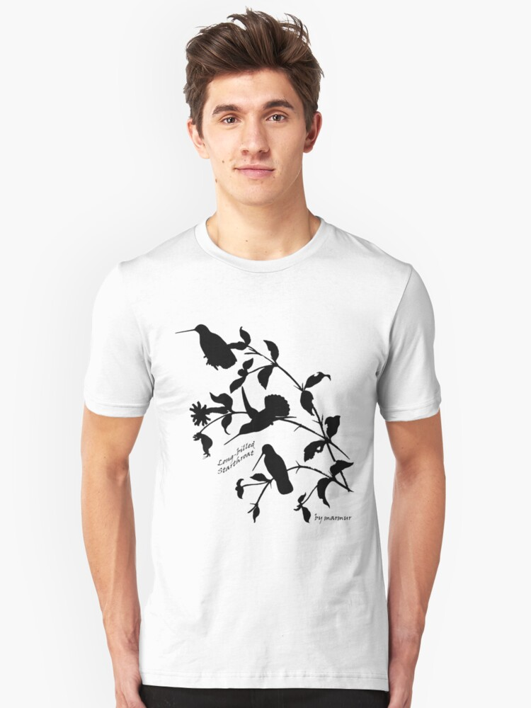 Black long-billed starthroat Unisex T-Shirt Front