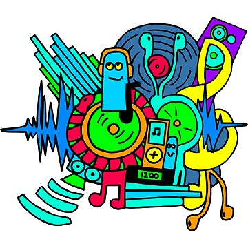 Music Print by anguerre5