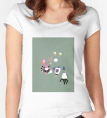 ROBOT BABYSITTER Women's Fitted Scoop T-Shirt