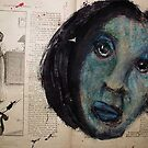 Collage with Blue Face by ArtLacoque