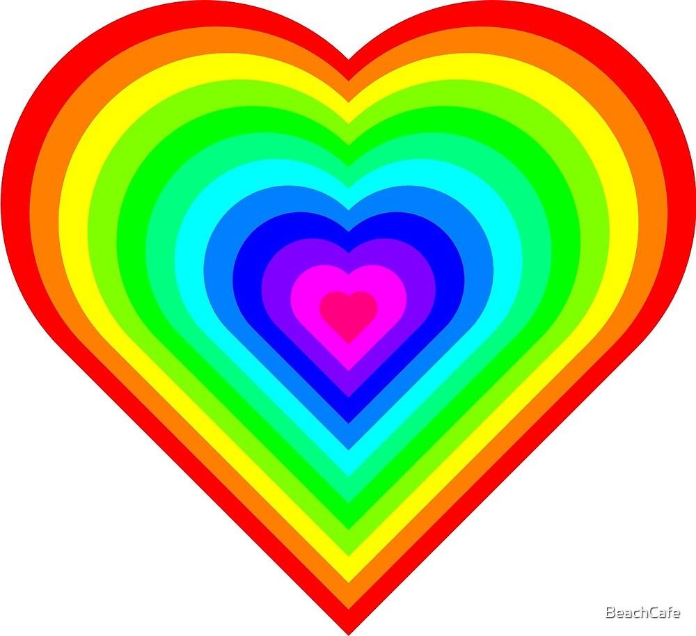 Rainbow Hearts  by BeachCafe