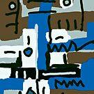 black on blue by Albert