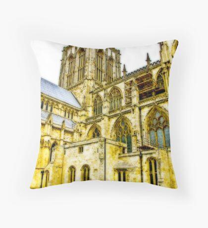 Central Tower - York Minster Throw Pillow