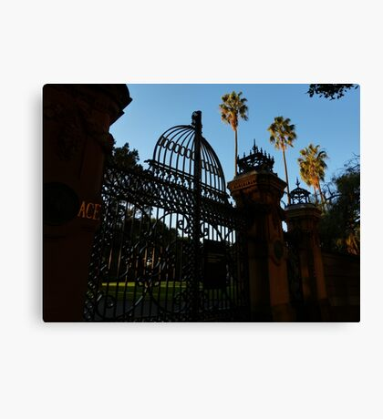 Gateway to the Palace Gardens Canvas Print