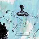 bird and tea pot by Albert